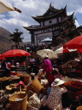 Market Day on Small Palou Island  Lake Erhai  Yunnan  China