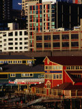 Buildings on Pier 55  Seattle  USA