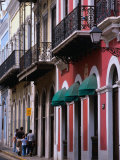 Building Facades in the Old Quarter of San Juan  San Juan  Puerto Rico