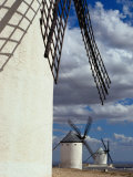 Row of Traditional Windmills  Campo De Criptana  Spain