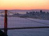 Dawn Over the Golden Gate Bridge from Marin Headlands  San Francisco  California  USA