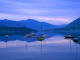 Moored Yachts on Loch Broom  Ullapool  Scotland
