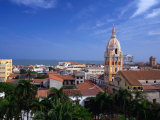 View Over Cartagena De Indias to Cathedral  Cartagena Bolivar  Colombia