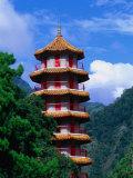 Pagoda at Tienhsiang  Taroko Gorge National Park  Hualien  Taiwan