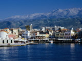 Harbour and Mosque of the Janissaries on Waterfront  Hania  Crete  Greece