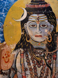 Hindu Mural on Dr Rajendraprsad Ghat  Varanasi  Uttar Pradesh  India