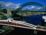 Tyne and Swing Bridges  Newcastle-Upon-Tyne  United Kingdom