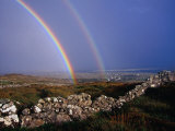Rainbow Over Stone Walls  Ireland