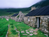 Abandoned Houses in Village of Hirta  St Kilda  Western Isles  Scotland