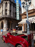 Old American Car in Front of Hotel Inglaterra  Havana  Cuba