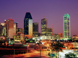 City Skyline Illuminated at Dusk  Dallas  United States of America