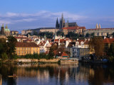 Prague Castle and Mala Strana (Small Quarter) Seen from Across Vltava River  Prague  Czech Republic