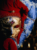 Elaborate and Ornate Mask for Venice Carnival  Venice  Italy