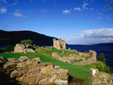 Urquhart Castle Remains on Shores of Loch Ness  Drumnadrochit  United Kingdom