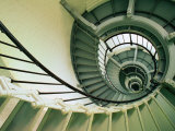 The Spiral Staircase at the Ponce Deleon Inlet Lighthouse Daytona Beach  Florida  USA