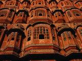 Facade of Hawa Mahal (Palace of the Winds)  Jaipur  Rajasthan  India
