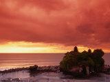 Tanah Lot  Sea Temple  at Sunset  Bali  Indonesia