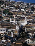 View Over the Old Quarter of Quito  Quito  Pichincha  Ecuador