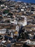 View Over the Old Quarter of Quito  Quito  Pichincha  Ecuador
