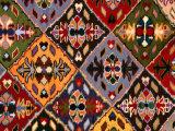Romanian Loom-Woven Carpet Detail  Suceava  Romania