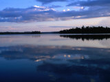 Sunset on Lake Itasca  Itasca State Park  USA