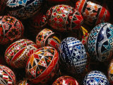 Decorated Eggs for Sale Outside Humor Monastery  Humor Monastery  Suceava  Romania