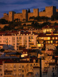 City with Castelo De Sao Jorge  Lisbon  Portugal