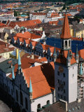 Rooftops and Old Town Hall  Munich  Germany
