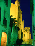 Church and Castle of Sant Marti Illuminated at Night  Altafulla  Tarragona  Catalonia  Spain