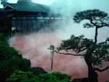 Steam Rising from Hot Spring and Baths (Or Jigoku Meaning Hells)  Beppu  Kyushu  Japan