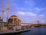 Ortakoy Camii Mosque Next to the Bosphorous River  Istanbul  Turkey