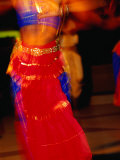 Dancer Performing a Traditional Indian Dance  Port Louis  Port Louis  Mauritius