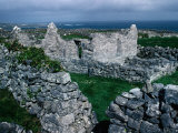 Ruins of Teampall an Cheathrair Alainn  or Church of the Beautiful Four  Ireland