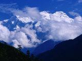 Manaslu from Marsyangdi Valley  Annapurna  Gandaki  Nepal