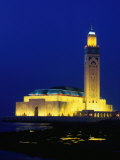 Hassan II Mosque at Night  Casablanca  Morocco