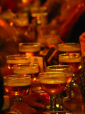 Beer Glasses at Bar  Brussels  Belgium