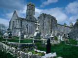 Ruin of Ennis Friary  Founded by O&#39;Brien Kings of Thomond in 13th Century  Ennis  Ireland