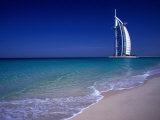 The Burj Al Arab or the Arabian Tower of the Jumeirah Beach Resort  Dubai  United Arab Emirates