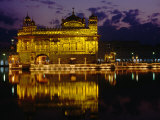 Golden Temple (Harmandir Sahib) on Waterfront  Amritsar  Punjab  India