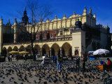 Sukiennice Arcaded Cloth Hall on Main Market Square  Krakow  Malopolskie  Poland