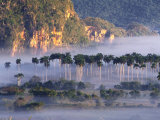 Morning Mist Over Vinales Valley  Pinar Del Rio  Cuba
