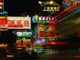 Neon Signs on Nathan Road  Tsim Sha Tsui  Blur  Hong Kong