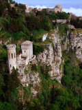 Cliff-Side Torretta Pepoli (Pepoli Turret)  Erice  Sicily  Italy
