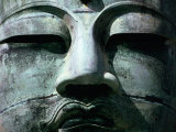 Face of Daibutsu (Great Buddha) Statue  Kamakura  Japan