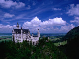 King Ludwig II's Neuschwanstein Castle and Countryside Around It  Fussen  Bavaria  Germany