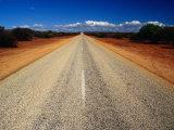 Outback Road  Monkey Mia National Park  Western Australia  Australia