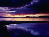 Sunset Over Flathead Lake  Montana  USA