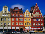 Burgher Houses on Salt Square  Wroclaw  Poland