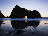 Pfeiffer Beach Rock Formation at Dusk  Pfeiffer Big Sur State Park  USA
