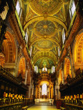 The Choir and Apse of St Paul's Cathedral Under a Mosaic Ceiling  London  England